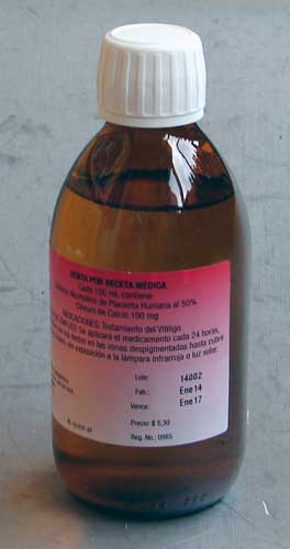 Melagenina Plus (Vitiligo) placenta extract, orig. Cuba
